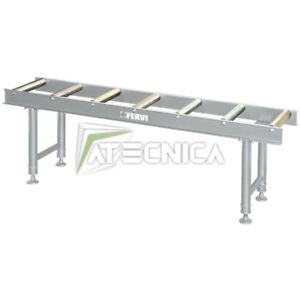 Transportador de Rodillos Ajustable En Altura 2mt Fervi R001/07 Diam 60x360mm