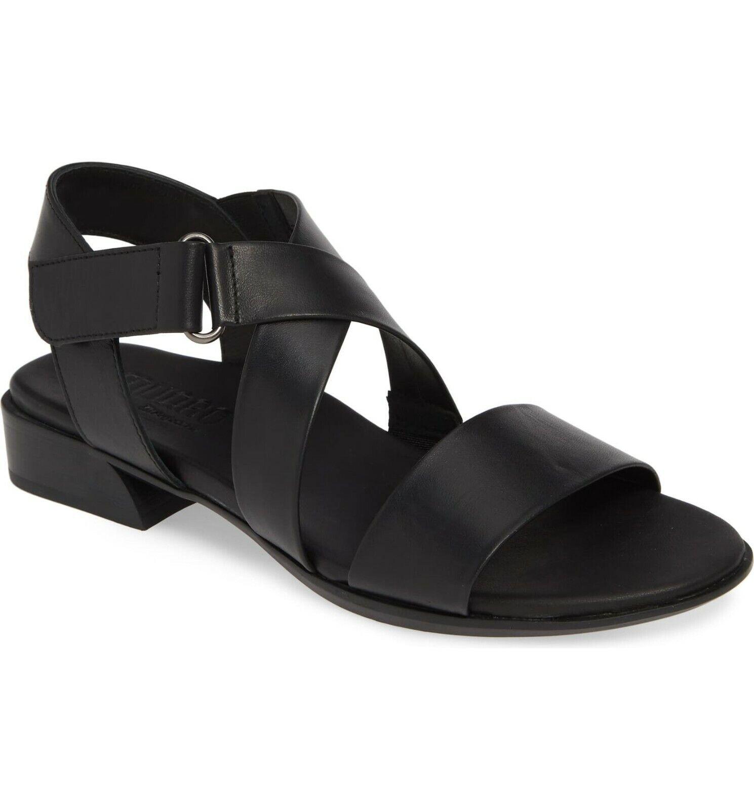 NEW Munro Souki Sandal, Black Leather, Women Size 9.5 M,   210