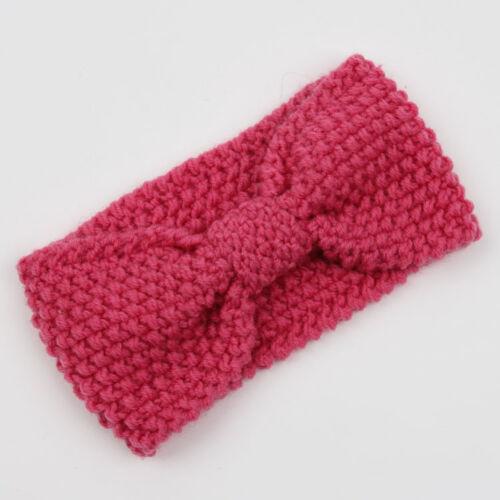 Womens Crochet Bow Knot Turban Knit Head Wrap Hairband Winter Ear Warm Headband