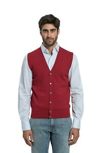 650$ BELVEST Sweater Burgundy 100/% CASHMERE 38 US 48 EU Made in Italy Slim Fit