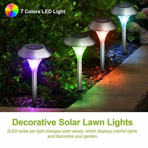 LED Solar Powered Lawn Lamps Outdoor Landscape Garden Lighting Colorful Light
