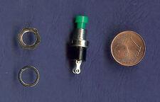 1 Stück Miniaturtaster Drucktaster Schließer grün für Modellbau geeignet