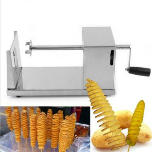 Stainless Steel Rapid slicer Manual Potato Twister Tornado Auto Cutter Machine