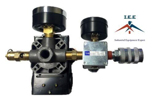 US Estilo Compresor de aire interruptor de control de Presión Regulador De Montaje Kits de colector