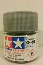 Tamiya acrylic paint XF-16 Aluminum 10ml Mini
