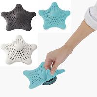 Umbra Bathroom Starfish Hair Catcher Sink Rubber Drain Strainer Black White Blue