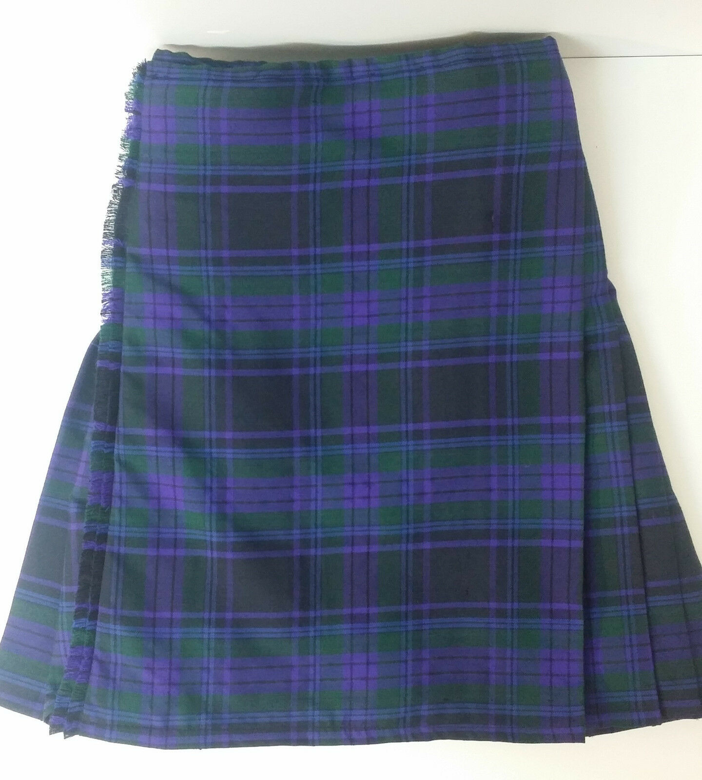 Spirit of Scotland 8 Yard 100% Wool Kilt Ex Hire A1 condition fully cleaned
