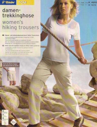 creme Faserbeschichtung TCM Hose//Shorts M//40-42 B-WARE: Damen-TREKKINGHOSE