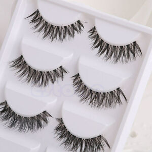 5-Pairs-Makeup-Handmade-Thick-Cross-False-Eyelashes-Eye-Lashes-Extension-HW-08