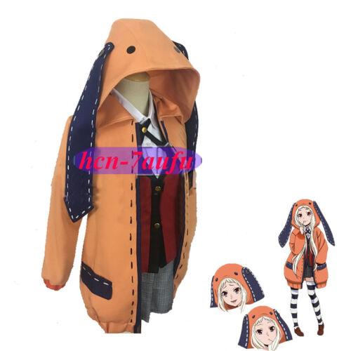Kakegurui Compulsive Gambler Runa Yomozuki Cosplay Costume Wholeset Uniform