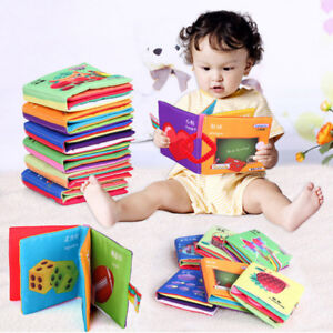 1PC-Children-Kids-Cloth-Cognize-Read-Book-Intelligence-Development-Safe-Toy-Gift