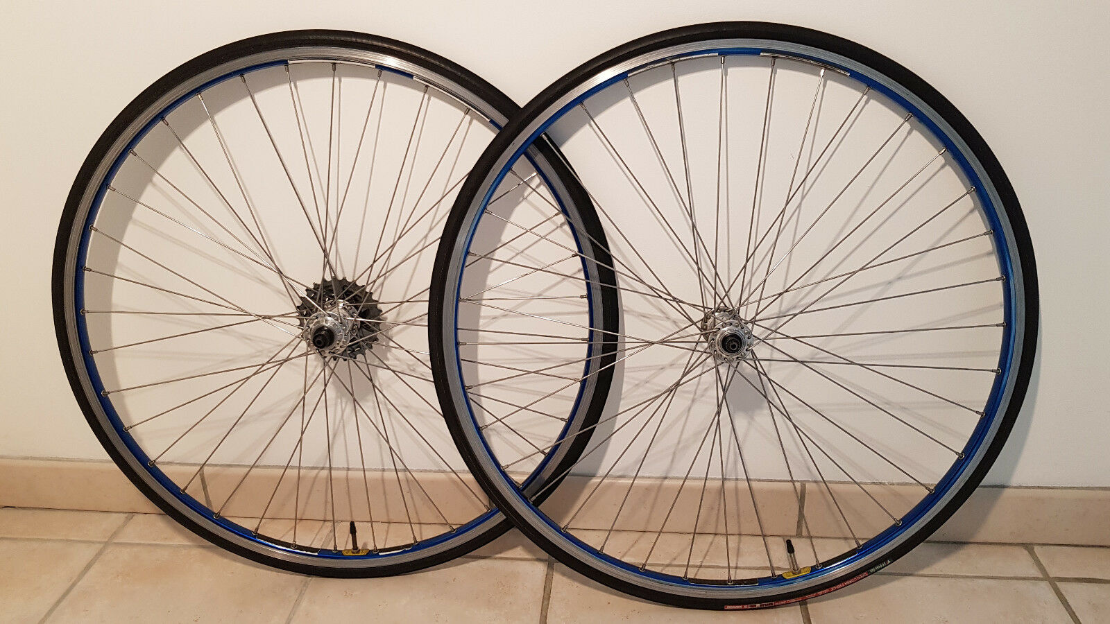 AMBROSIO EXCELANCE Wheelset  hubs  CAMPAGNOLO Record vintage old bike