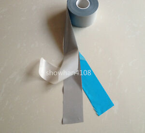 """Silver DIY Safety Reflective Warning Tape Iron On for Clothes Pants Width 5cm 2/"""""""