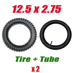 2x 12.5 x 2.75 Front Rear Back Tyre Tire+ Tube 47 49cc ATV PIT Dirt Pocket Bike