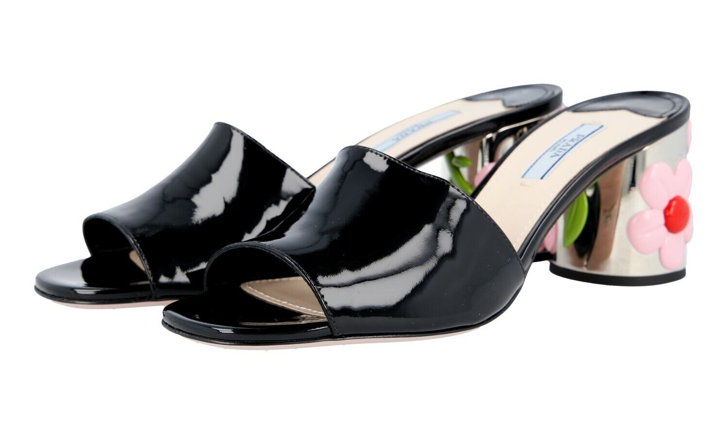 Luxurious prada sandal 1xx310 black new 39 39,5 uk 6