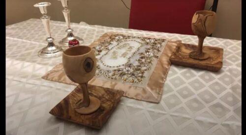 Shabbos kiddush Cup Becher Olive Wood Goblet 3.8oz 112ml shiur reviis For Seder