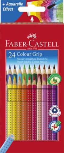 Farbstifte Colour-Grip 2001 24er Kartonetui Faber-Castell 112424 Buntstifte