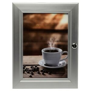 Secure Verrouillable En Aluminium A4 Photo Poster Snap Cadre Avec Touches Et Ouverture Frontale-afficher Le Titre D'origine