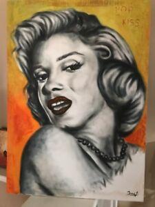 Details About Original Pop Art Oil Painting Of Marilyn Monroe By Artist Jose Modern Artwork