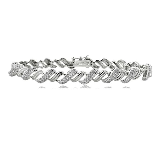 1.00ct TDW Diamond San Marco Tennis Bracelet in Brass