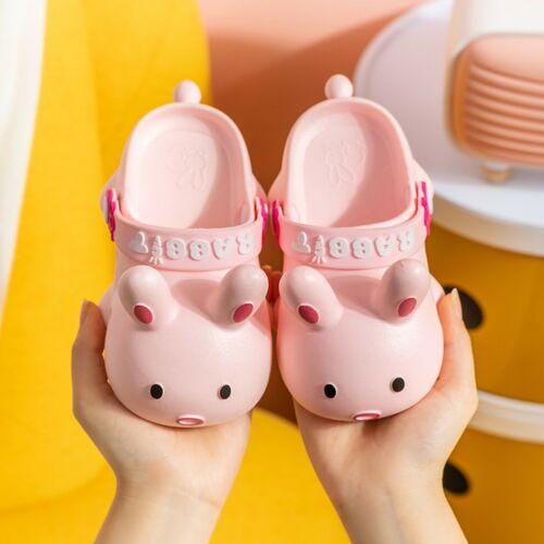 Children Boys Girls Slippers Cartoon Rabbit Soft Sandals Slip-On Beach Shoes