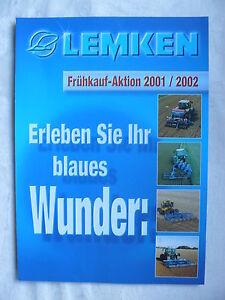 0279-2) Lemken-frühkauf-action 2001/2002-prospectus Brochure 2001-n 2001 / 2002 - Prospekt Brochure 2001 Fr-fr Afficher Le Titre D'origine