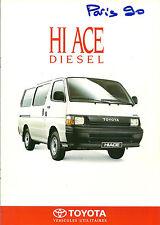 CATALOGUE PUBLICITAIRE TOYOTA HI ACE - DIESEL - 1990