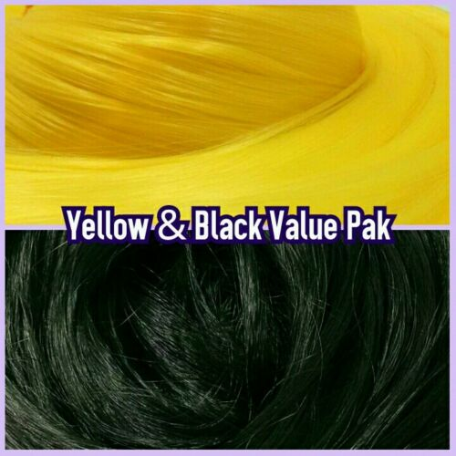 Yellow /& Black XL 4oz 2 Color Value Pak Nylon Hair Hanks Rooting Barbie /& MLP