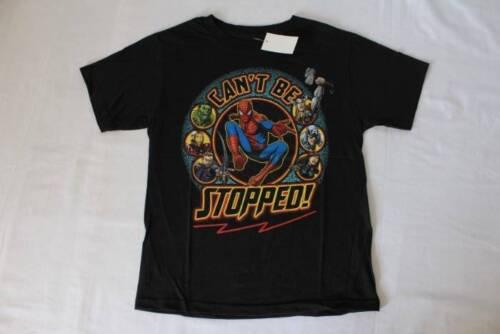 NEW Boys Spiderman Avengers T Shirt Size 14-16 XL Top Super Hero Tee Hulk Iron