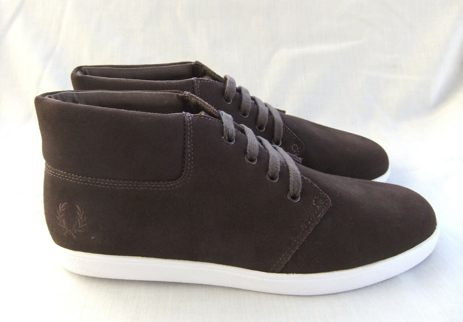 NEW FRED PERRY B6051 LANCE MENS DARK  BROWN SUEDE BOOTS