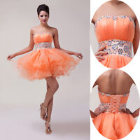 Mini Short Voile Wedding Party Dresses Cocktail Prom Evening Ball Gowns Size6-20
