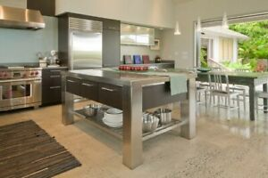 Details about *5ft Stainless Steel kitchen island mad in US (available for  Custom)*
