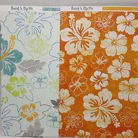 Hawaiian Hibiscus Scrapbook Paper My Minds Eye 12x12 Orange Surfs Up 2010 Lot 2