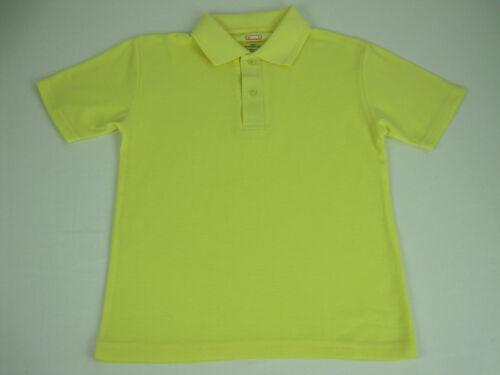 Stubbies Children Kids School Wear Polo Shirt sizes 6 14 16 Colour Lemon