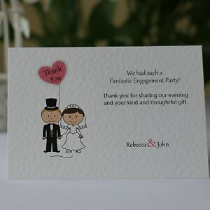 20-100-Bride-Groom-Personalised-Engagement-Thank-You-Cards