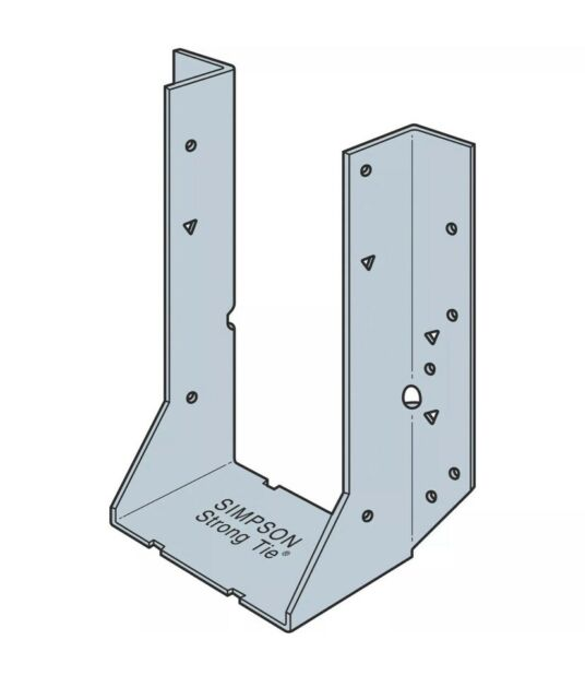 Double Shear Joist Hanger by 10 in 25-Pack Simpson Strong Tie HHUS210-2-25 HHUS210-2 Heavy Duty 2 in Simpson Strong-Tie