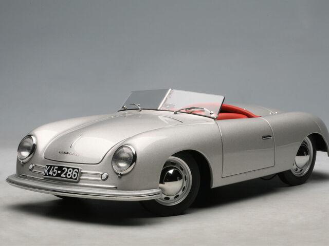 Autoart Porsche 356 Number 1 Silver 1 18