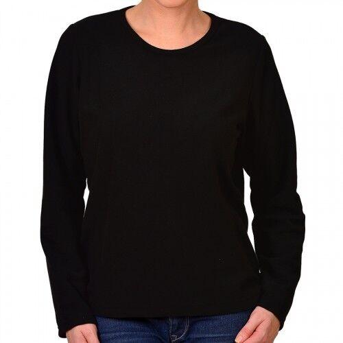 Shirt langärmlig Rundhals leichte Fleece-Qualität Trigema