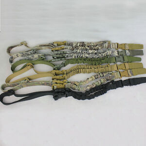 Adjustable Hunting 1 One Point Rifle Sling Bungee Tactical Shotgun Strap System