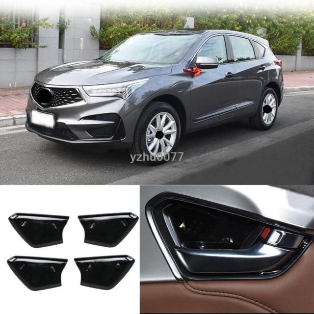 2019 For Acura RDX Bright Black Stainless Steel Inner Door