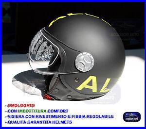 Casco per Scooter Moto Quad Vespa Modello Jet con Visiera Helmets Taglia M