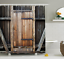 Farmhouse-Fabric-Shower-Curtain-Rustic-Wooden-Door-Lodge-Print-Bathroom-Decor thumbnail 2