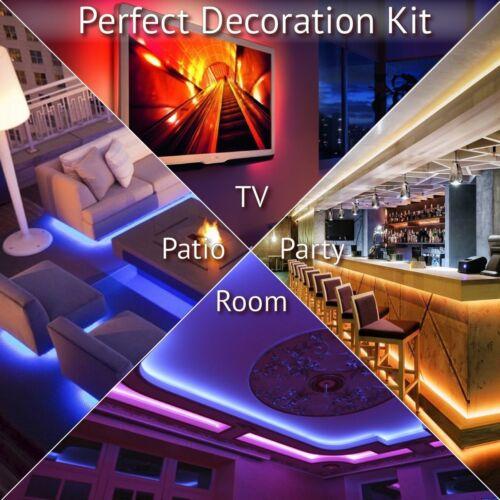 5M 10M 5050 RGB Waterproof LED strip light WIFI Alexa Smart Home Power Full Kit