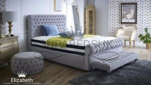 c62056589f9fdb Image is loading 6FT-Super-King-Size-Handcrafted-Chesterfield-Bed-Frame-