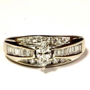 14k-white-gold-93ct-marquise-diamond-engagement-ring-5-3g-estate-vintage