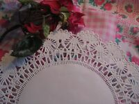 "8"" INCH ROUND CAMBRIDGE WHITE PAPER LACE lacy doily DOILIES CRAFT 25 PCS❤ USA"