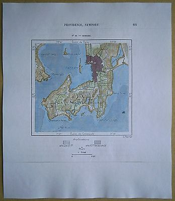 1892 Perron map NEWPORT, RHODE ISLAND (#42)