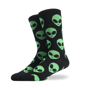 Alien-Funky-Happy-Crew-Socks