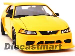 2000-FORD-MUSTANG-SVT-COBRA-1-18-DIECAST-MODEL-CAR-by-MAISTO-31872-YELLOW-NEW