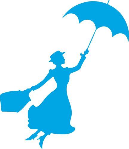Fenêtre mur Véhicule Affichage Mary Poppins Silhouette Autocollant Vinyle Autocollant
